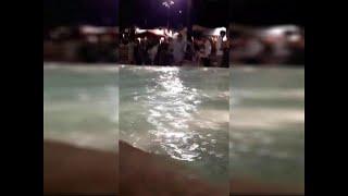 Sorrento, movida senza freni: gara di tuffi nella fontana di piazza Lauro