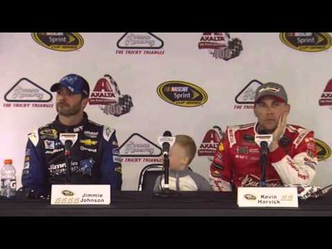 NASCAR Media Pocono interview Kevin Harvick & Jimmie Johnson - Let's Talk Racing