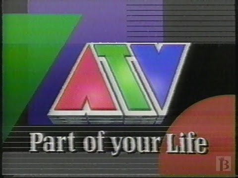 ATV - End of Night Sign off, O Canada, Test Pattern 1991