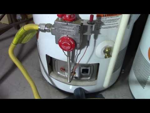 How to relight a water heater pilot light