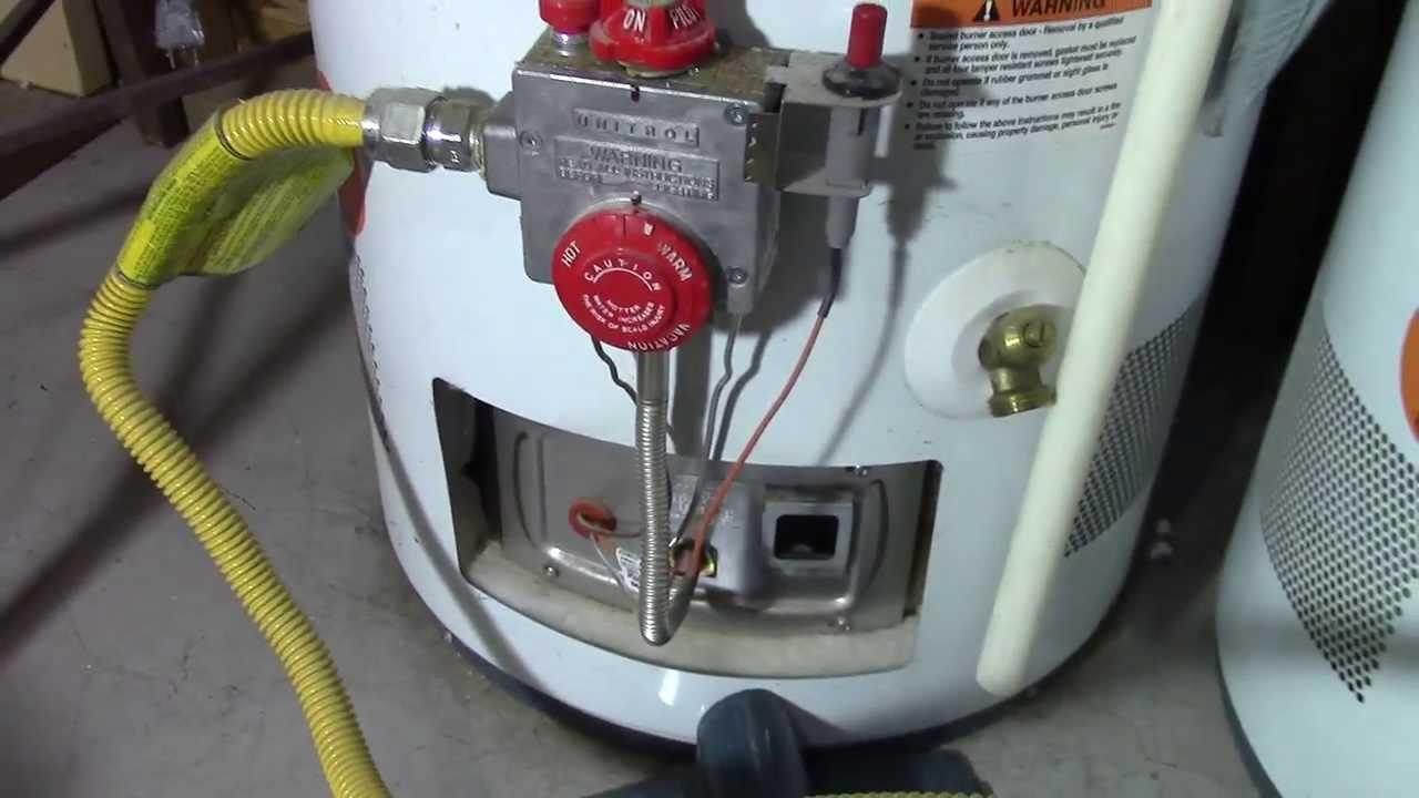 how to relight a water heater pilot light [ 1280 x 720 Pixel ]