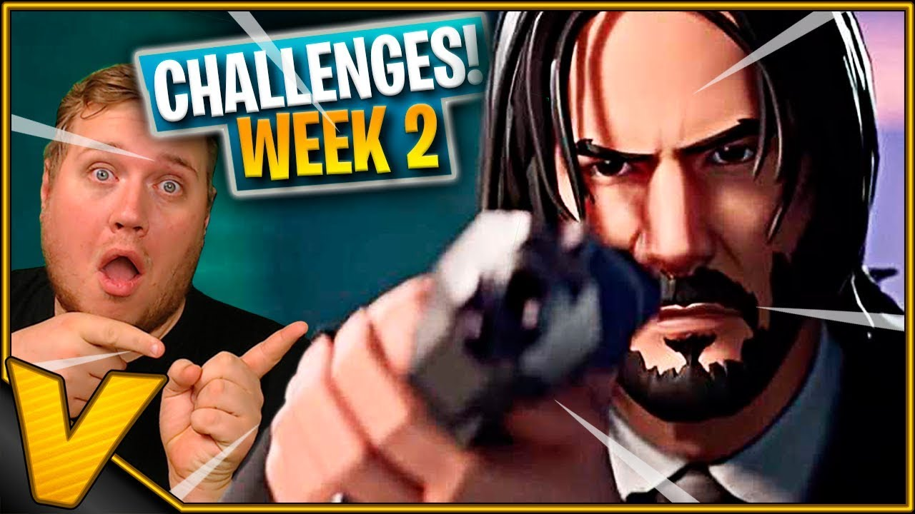 JOHN WICK KLARER CHALLENGES *WEEK 2 - MASSE WINS* :: Fortnite Dansk