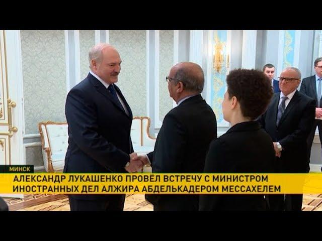 Президент Беларуси провёл встречу с министром иностранных дел Алжира