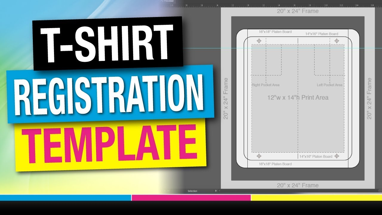 How To Screen Print T Shirt Registration Template Youtube