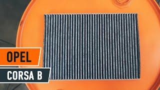 Kaip pakeisti Salono filtras OPEL CORSA B [PAMOKA]