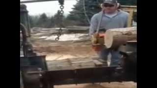 Homemade Firewood Processor With Husqvarna Chainsaw