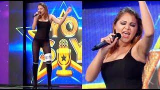 """Imitadora de Thalía cantó """"Gracias a Dios"""" y """"No me acuerdo"""" cautivando a todos los presentes"""