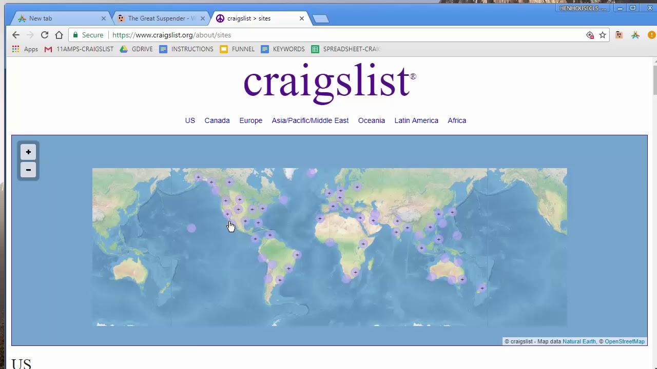 CRAIGSLIST - POSTING - YouTube