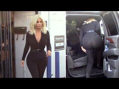 X17 EXCLUSIVE - Kim Kardashian Wears Pants So Tight You Can See Through Them!
