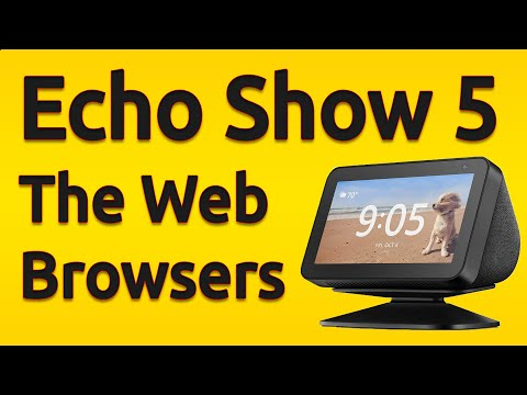 Amazon Echo Show 5: Web Browser Apps