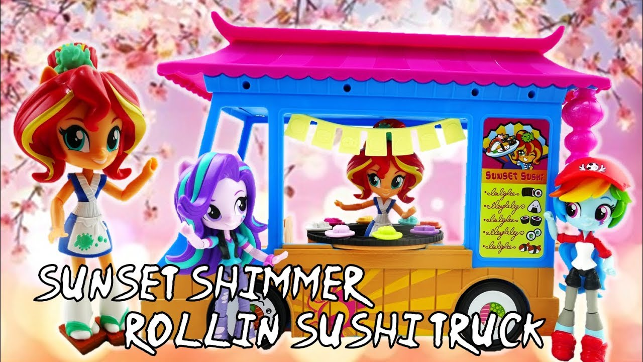 New My Little Pony Sunset Shimmer Rollin/' Sushi Truck Playset /& Figure Official
