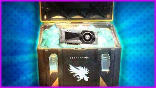 SURPRISE UNBOXING!  GeForce GTX 1080 Ti / Destiny 2 Loot Chest (PC Gameplay Max Settings)