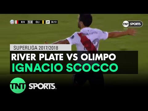 Ignacio Scocco (2-0) River Plate vs Olimpo   Fecha 14 - Superliga Argentina 2017/2018