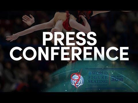 Pairs Short Program Press Conference - Milano 2018