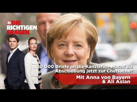 """20000 Briefe an Merkel - Macht sie Abschiebung zur Chefsache? BILD stellt """"Die richtigen Fragen""""!"""