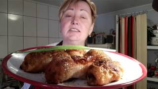 видео Курица запеченная с грибами по рецепту спар