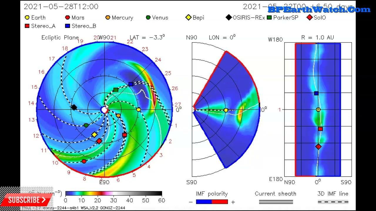 Solar Eruption Update/First and Second Impact ETA's