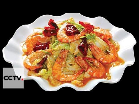 Китайская кухня Жареные королевские креветки с капустой без регистрации и смс