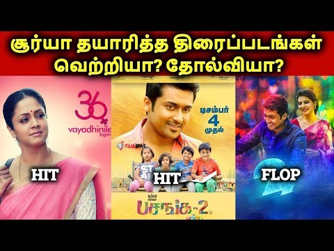 surya-produced-movies-hit-or-flop-or-block-buster-|-2d-entertainment-movies-list-|-தமிழ்