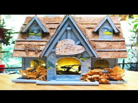 Birdhouse Plans Decoupage & Paint Tutorial