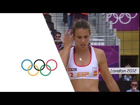 Women's Beach Volleyball Round of 16 - ESP v ITA | London 2012 Olympics