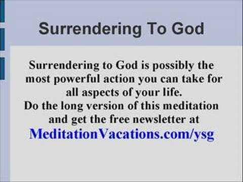 Guided Meditation Surrender to God - YouTube