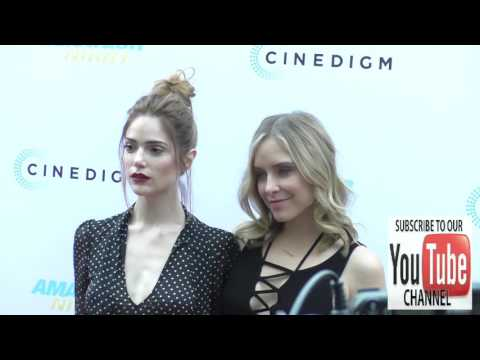 Janet Montgomery and Jenny Mollen arriving to the Amateur Night Premiere at ArcLight Theatre in Holl