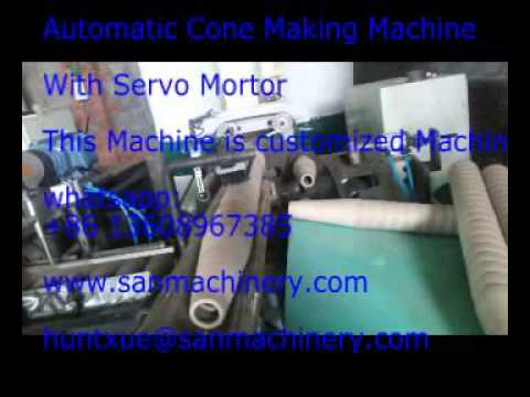 automatic cone making machine with servo motor  customized machine