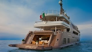 196-foot J'ade mega yacht with world's first floating drive-in garage