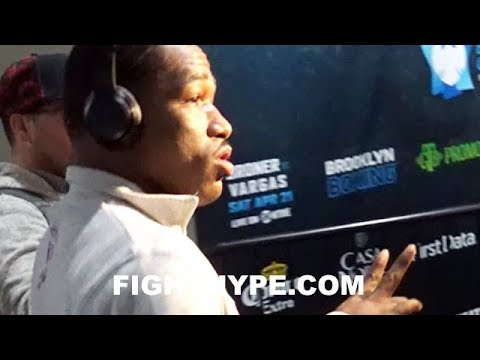 ADRIEN BRONER ARRIVES TO ARENA FOR JESSIE VARGAS CLASH; LOOKS DEAD SERIOUS AND FOCUSED