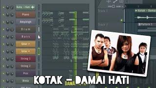 Gambar Kotak - Damai Hati  Karaoke  Fl Studio