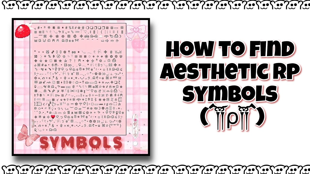 how to find aesthetic rp symbols ft. nicknames format   YouTube
