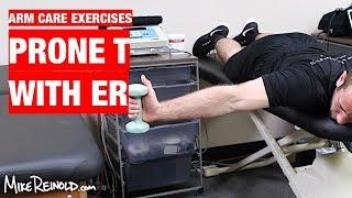 Prone Shoulder T with ER Exercise - Arm Care Shoulder Program