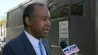 HUD Secretary Ben Carson tours affordable housing complexes in San Diego, California