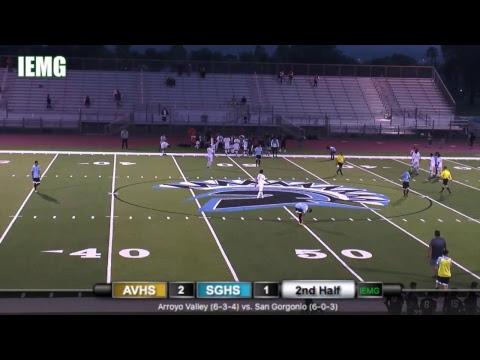 LIVE SOCCER! Arroyo Valley vs. San Gorgonio Boys Soccer (12-13-18)