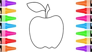 How to Draw Apples Coloring Pages Fruit | Kids Learn Drawing | Art Colors for Children