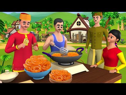 Greedy Jalebiwala Hindi Story | लालची जलेबीवाला हिन्दी कहानी | 3D Animated Stories | Greedy Stories