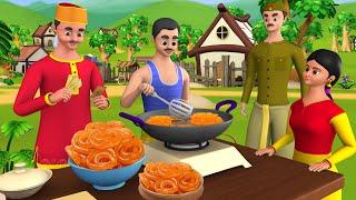 Greedy Jalebiwala Hindi Story | लालची जलेबीवाला हिन्दी कहानी | 3D Cartoon for Kids Moral Stories