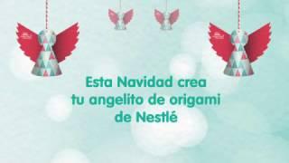 Crea tu angelito de origami para Navidad de Nestlé