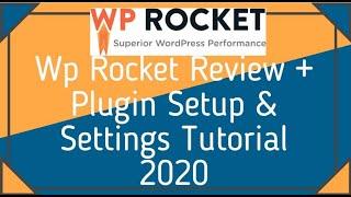 Wp rocket Review + Wp rocket Settings Tutorial + Coupon 2018