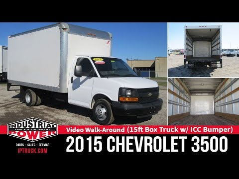 Chevrolet Express Commercial Cutaway - Pre-owned 15ft Box Truck With ICC Bumper