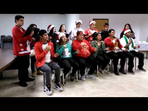 J. Economedes Show Choir carols at North Alamo Water Supply