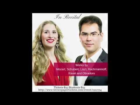 Nikoleta Rallis and Azamat Sydykov at Opera America Promo 2016