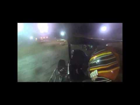 Shebester in car Midget A-main Boyd Raceway 10-25-2014