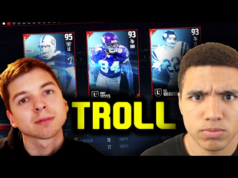 TD IS THE BIGGEST TROLL DRAFTER!  MADDEN 17 DRAFT CHAMPIONS