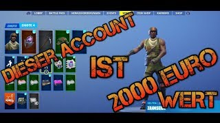 Fortnite Account 2000€ Wert 😱 seltenster Account? Mein Spind [Ghoul, aerial assault trooper ect.]