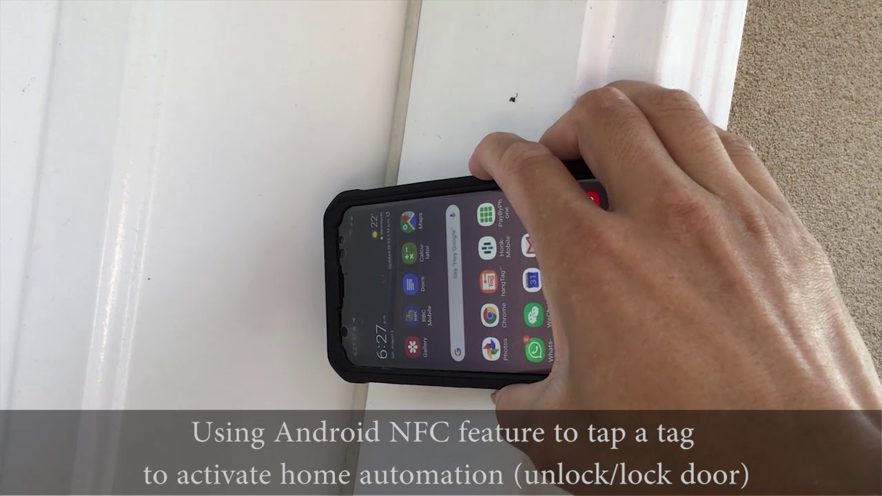 Using Android Phones to Tap NFC tags and open door locks and