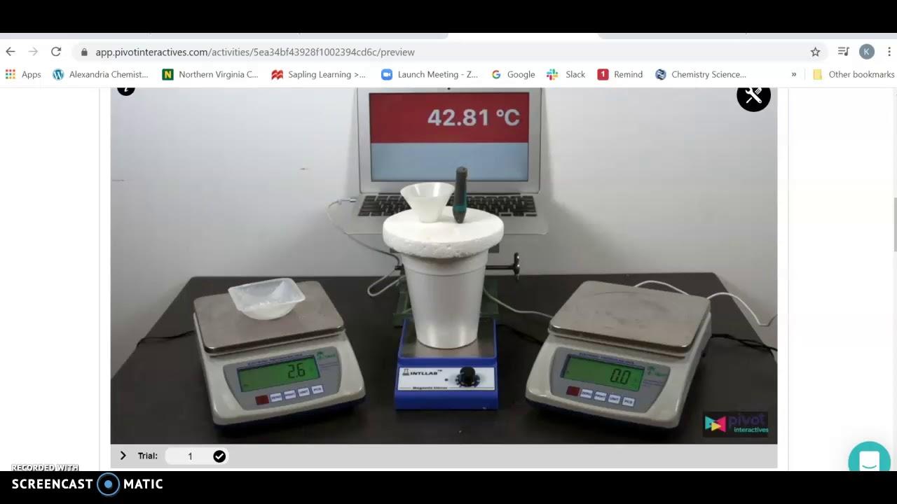 Heat of Solution Pivot Interactives - YouTube