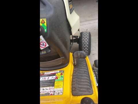 Cub Cadet LTX1040 safety switches - YouTube