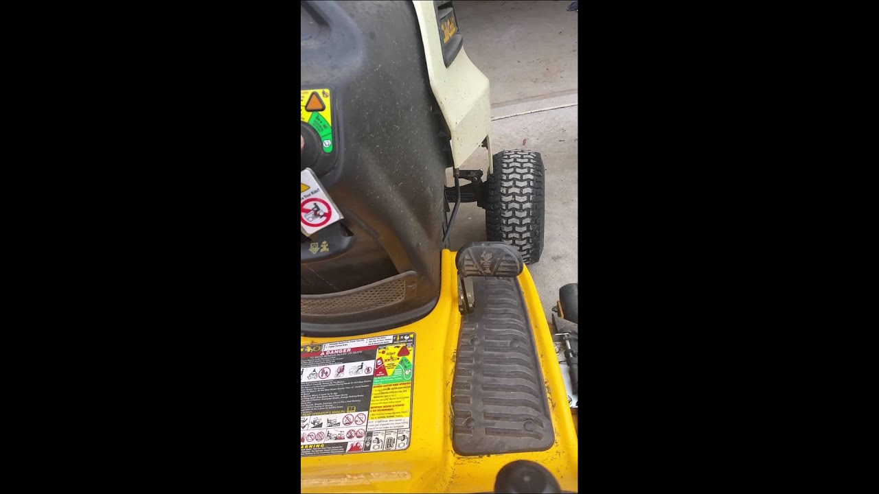 Cub Cadet LTX1040 safety switches - YouTube